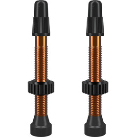 WTB Valve Tubeless Presta Aluminium 2 Pièces 46mm, orange